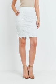 Riah Fashion Ivory Skirt - Front cropped