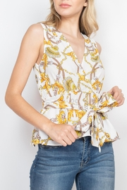 Riah Fashion Ivory-Yellow-With-Chain-Top - Product Mini Image