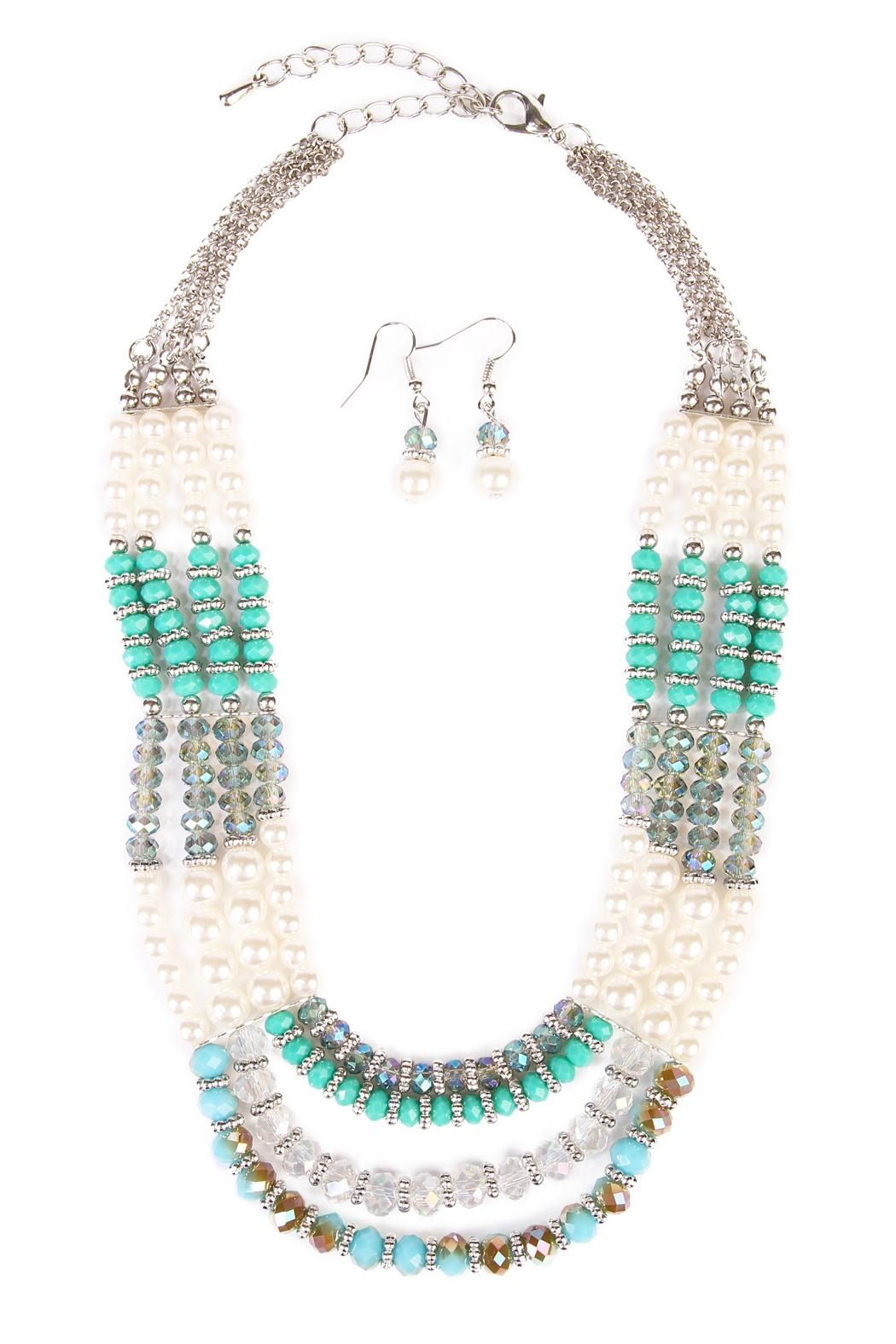 Riah Fashion Jade Necklace Set - Main Image