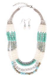 Riah Fashion Jade Necklace Set - Product Mini Image