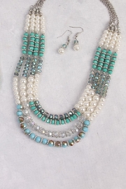 Riah Fashion Jade Necklace Set - Other