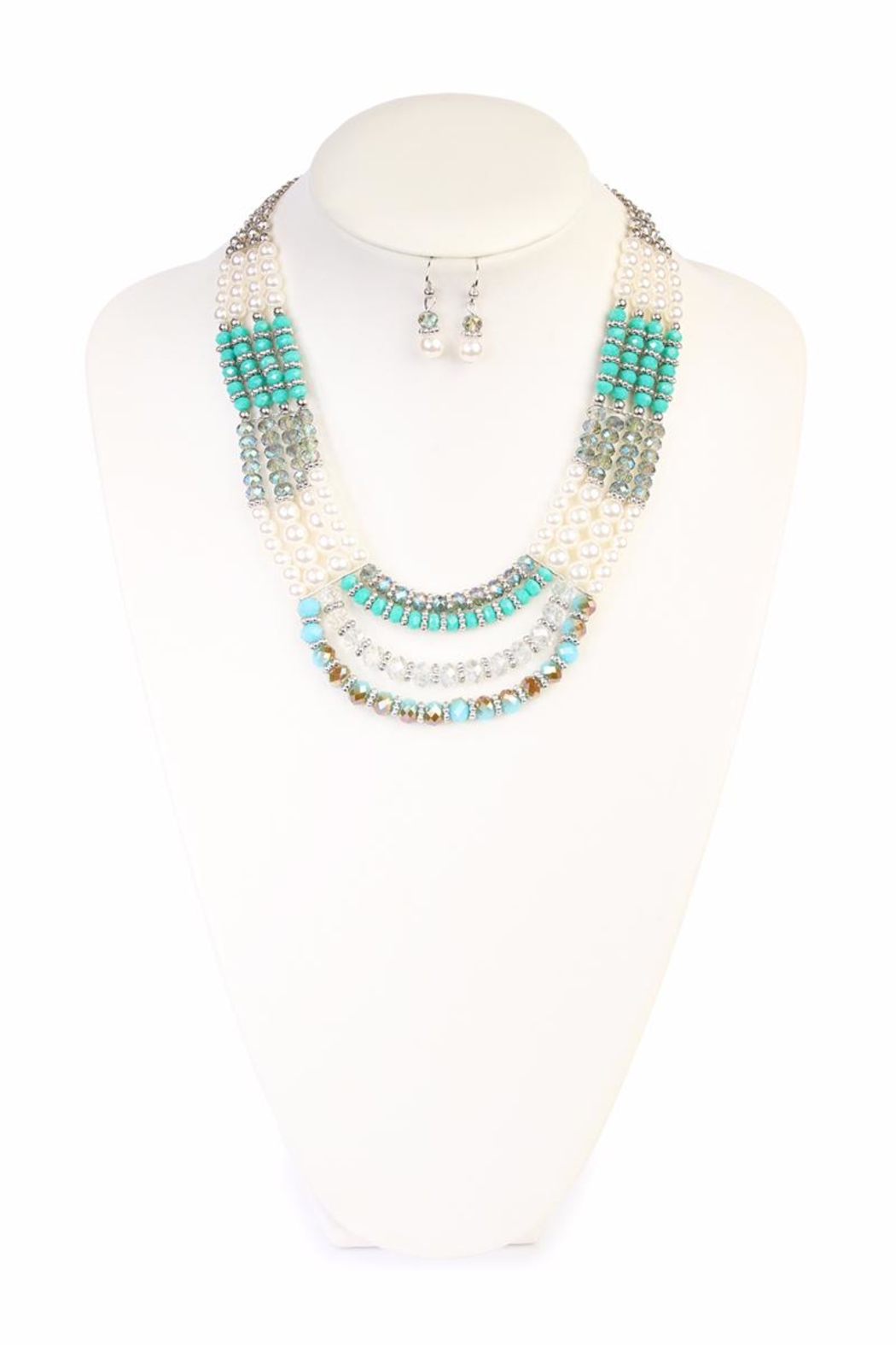 Riah Fashion Jade Necklace Set - Front Full Image