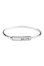 Riah Fashion John-3:16 Hinge Plate-Bracelet - Product Mini Image
