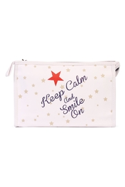 Riah Fashion Keep Calm Cosmetic Bag - Product Mini Image