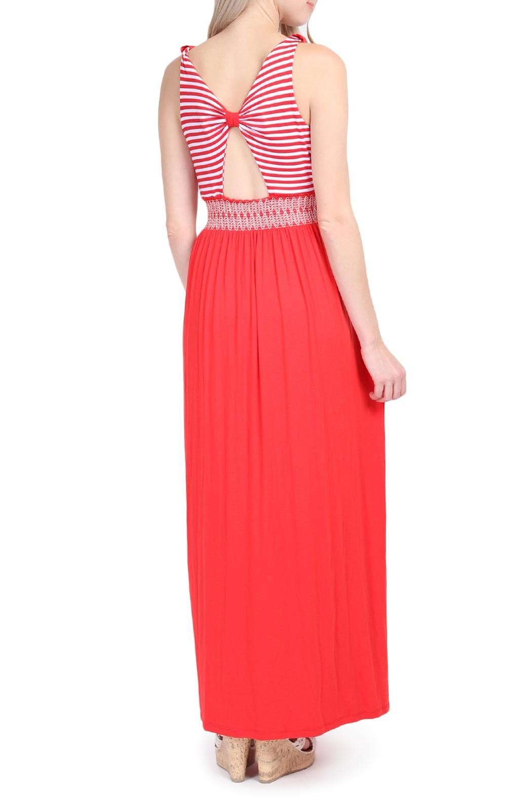 Riah Fashion Sleeveless Maxi Dress - Front Full Image