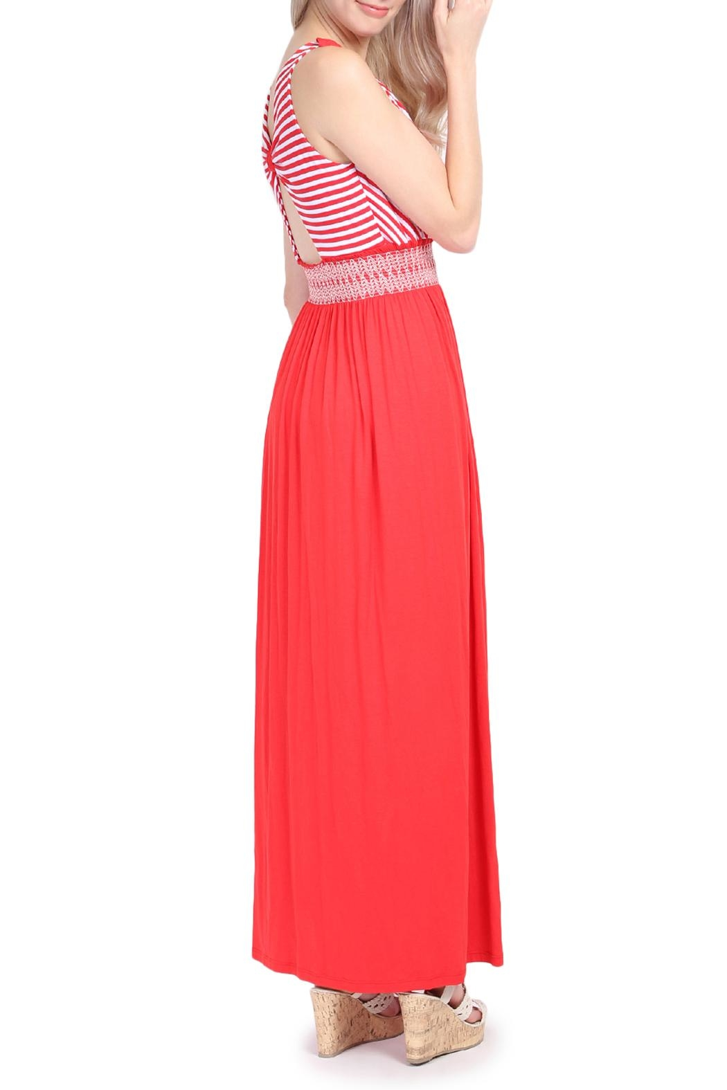 Riah Fashion Sleeveless Maxi Dress - Side Cropped Image