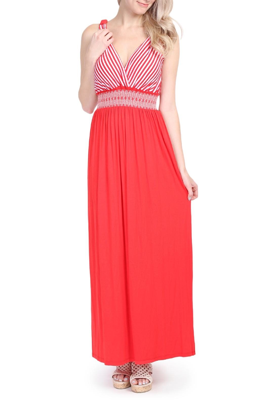 Riah Fashion Sleeveless Maxi Dress - Main Image