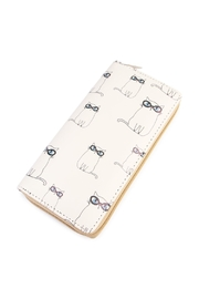 Riah Fashion Kitten Print Zipper Wallet - Product Mini Image