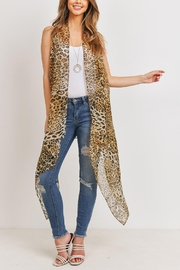 Riah Fashion Knee Length Printed Leopard - Front cropped