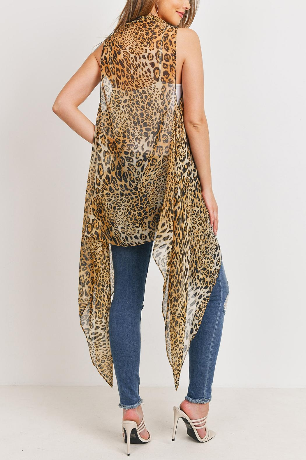 Riah Fashion Knee Length Printed Leopard - Front Full Image