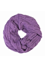 Riah Fashion Knitted Braid Scarf - Front cropped