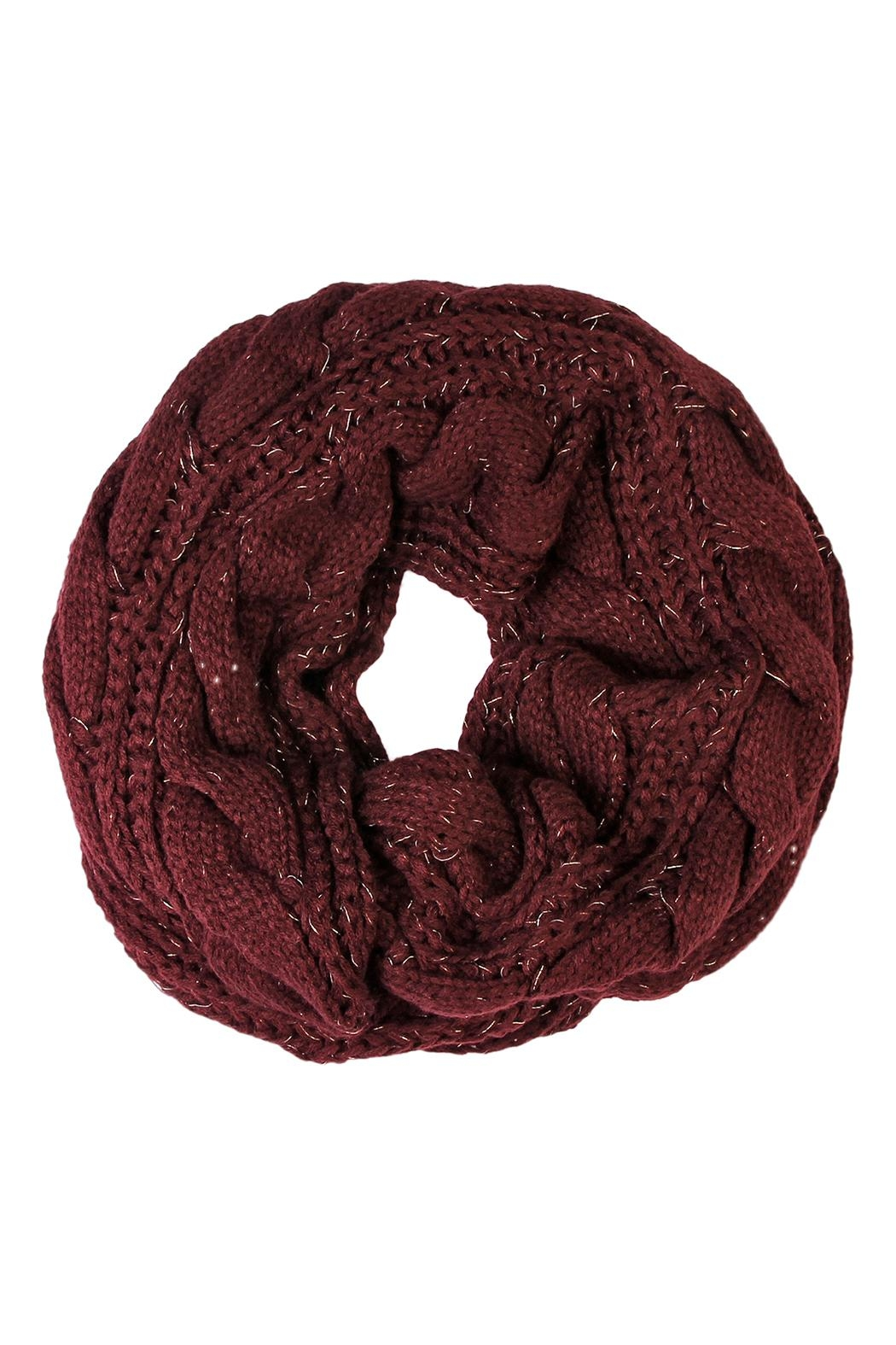 Riah Fashion Knitted Braid Scarf - Front Cropped Image