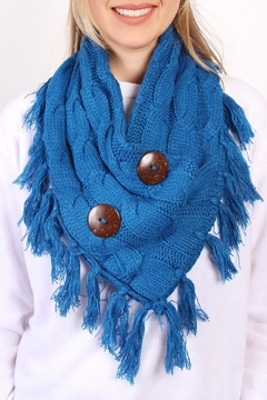 Shoptiques Product: Knitted Braided Tassel Scarf