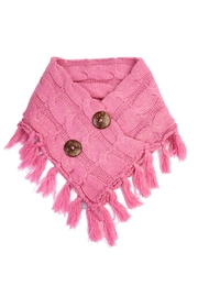 Riah Fashion Knitted Braided Tassel Scarf - Front cropped