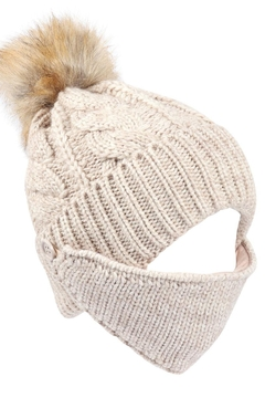 Riah Fashion Knitted-Pom-Beanie-With-Matching-Mask - Product List Image