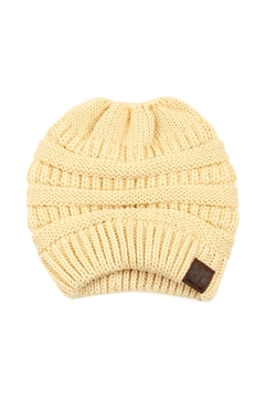 Riah Fashion Knitted-Ponytail-Beanie - Product List Image