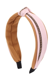 Riah Fashion Knot With Chain Accent Headband - Product Mini Image