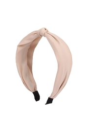 Riah Fashion Knotted-Fabric-Coated Head Band - Product Mini Image