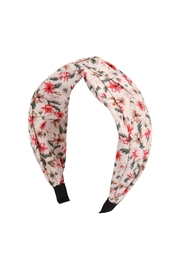 Riah Fashion Knotted-Floral-Fabric-Coated Head Band - Product Mini Image