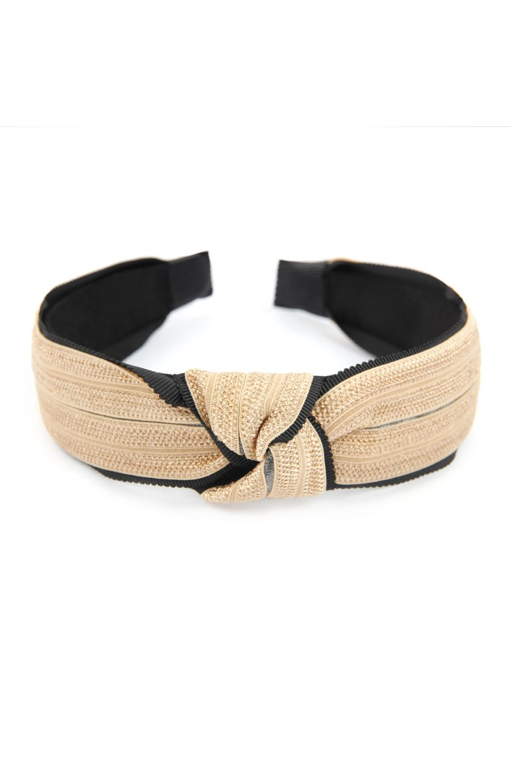 Riah Fashion Knotted Laced Fabric-Headband - Front Cropped Image