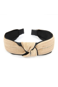 Shoptiques Product: Knotted Laced Fabric-Headband