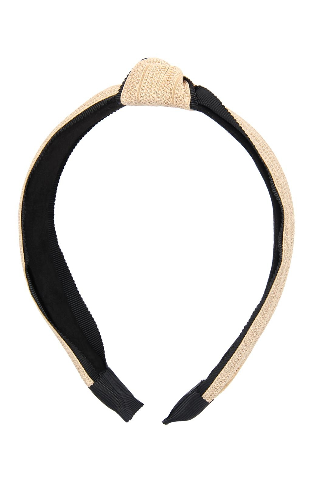 Riah Fashion Knotted Laced Fabric-Headband - Front Full Image