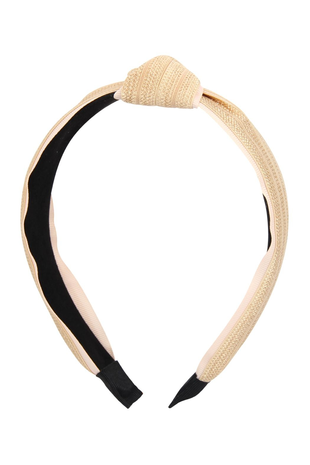 Riah Fashion Knotted Laced Fabric-Headband - Back Cropped Image