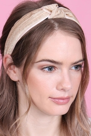 Riah Fashion Knotted Laced Fabric-Headband - Front full body