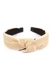 Riah Fashion Knotted Laced Fabric-Headband - Front cropped