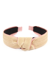 Riah Fashion Knotted Laced Fabric-Headband - Product Mini Image