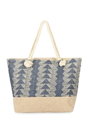 Riah Fashion Laced Pattern Weaved Tote Bag - Product Mini Image