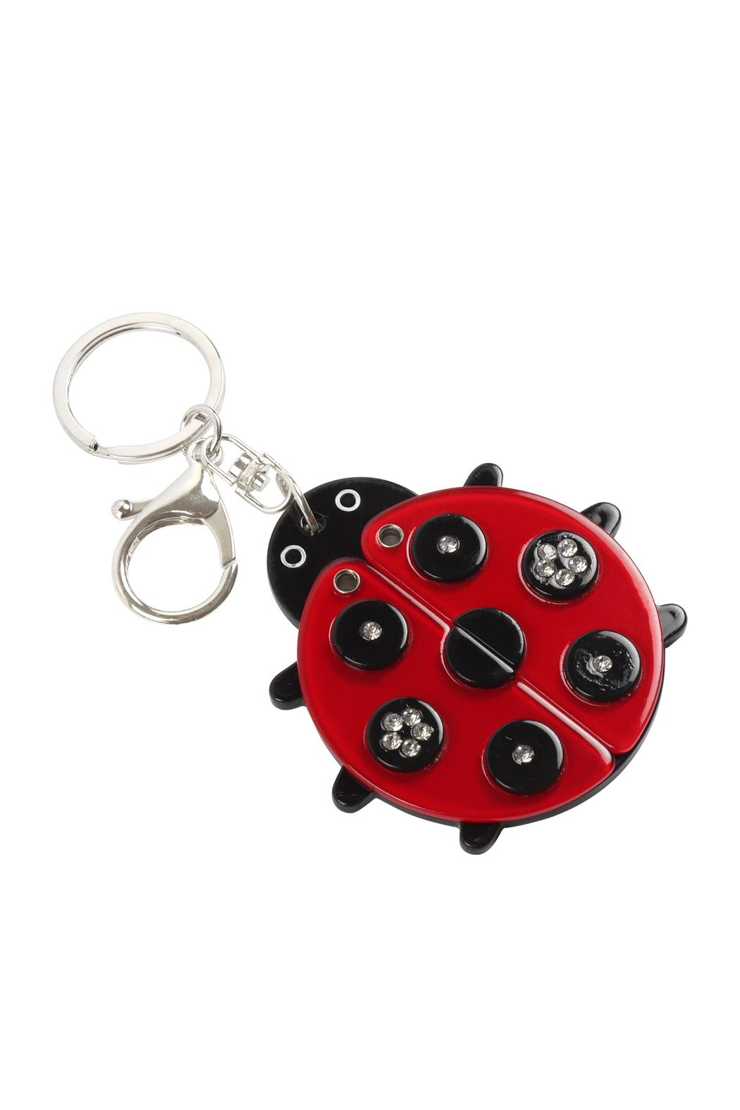 Riah Fashion Lady-Bug-With-Mirror-Keychain - Front Full Image