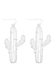 Riah Fashion Laser-Cut-Cactus Earrings - Product Mini Image
