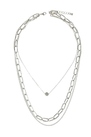 Riah Fashion Layered Chain Necklace - Front cropped