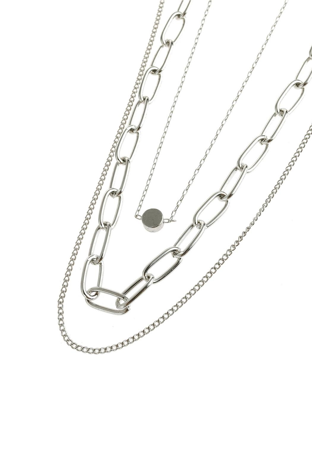 Riah Fashion Layered Chain Necklace - Front Full Image