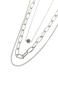 Riah Fashion Layered Chain Necklace - Alternate List Image