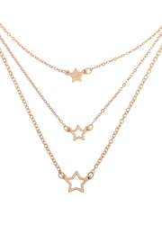Riah Fashion Layered-Chain-Open-Star-Inline-Necklace-Set - Product Mini Image