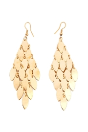 Riah Fashion Layered Chandelier Leaf Earrings - Product Mini Image
