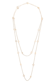 Riah Fashion Layered-Long-Clover-Part-Station-Necklace - Product Mini Image