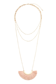 Shoptiques Product: Layered-Necklace With Tassel-Fan-Pendant