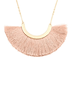 Riah Fashion Layered-Necklace With Tassel-Fan-Pendant - Alternate List Image