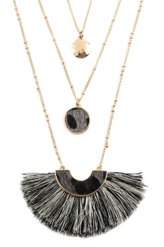 Riah Fashion Layered Pendant Necklac - Product List Image