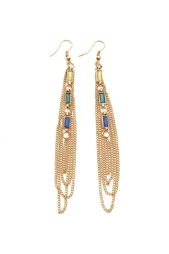 Riah Fashion Layered Stone Drop Earrings - Alternate List Image