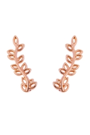 Riah Fashion Leaf Crawler Earrings - Product Mini Image