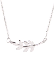 Riah Fashion Leaf Pendant Necklace - Front full body