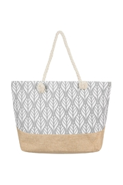 Riah Fashion Leaf Print Tote Bag - Product Mini Image