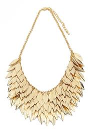 Riah Fashion Leaf Statement Necklace - Product Mini Image