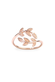 Riah Fashion Lilly Leaf Wrap Ring - Product Mini Image
