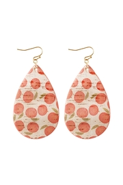 Riah Fashion Leather-Fruit-Fish-Hook-Tear-Drop-Earrings - Front cropped