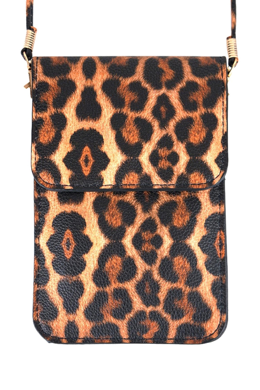 Riah Fashion Leopard-Cellphone-Crossbody-Bag-With-Clear-Window - Main Image